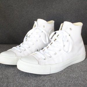 Converse CTAS Leather High Top, White Leather, Men